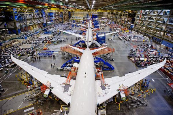 Safety culture within a 787 production line