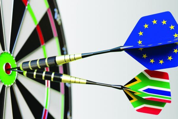 Trade lanes Europe Africa