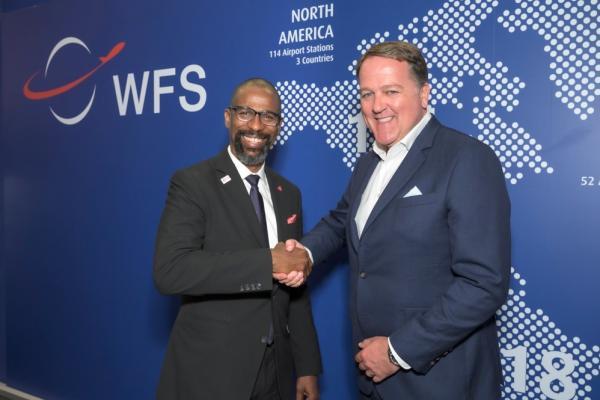 Elliott Paige Director Air Services Development at Hartsfield-Jackson Atlanta International Airport with Craig Smyth Group CEO WFS