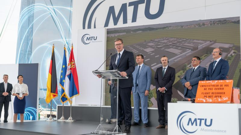 Serbia's president Aleksandar Vučić